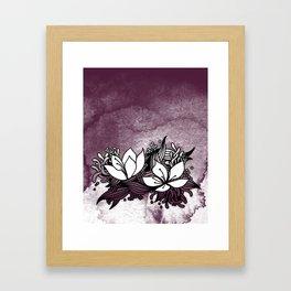 Flower Tangle Framed Art Print