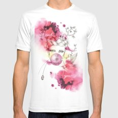 Bubble Birdie MEDIUM White Mens Fitted Tee