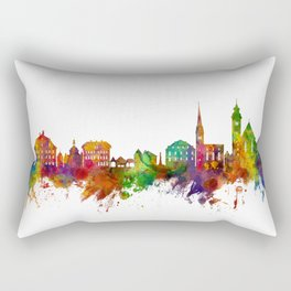 Hallstatt Austria Skyline Rectangular Pillow
