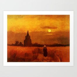 Vincent Van Gogh The Old Tower In The Fields Art Print