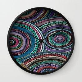 circles and lines Wall Clock