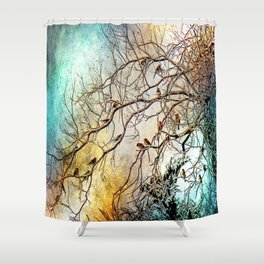 Out On A Limb Jewel Tones Shower Curtain