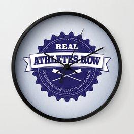 Real Athletes Row Wall Clock