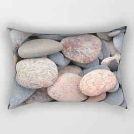 Watercolor Rock, Pebbles 05, Cape Breton, Nova Scotia, Canada, No Worries Here Rectangular Pillow