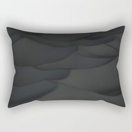 Black wavy surface Rectangular Pillow