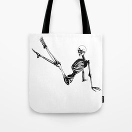 Skeleton Breakdance Tote Bag