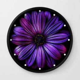 Bloom In Purple Wall Clock