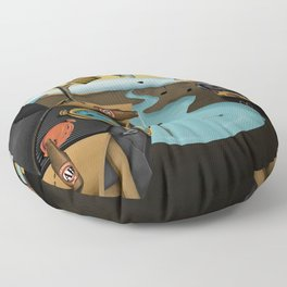 Where Time Stands Still - Surreal Sydney  Floor Pillow