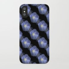 Morning Glory Illusion On Black iPhone X Slim Case