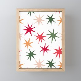 Colourful Sparkles - White Framed Mini Art Print
