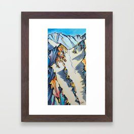 Powder Pig Framed Art Print