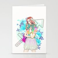 sagittarius Stationery Cards featuring Sagittarius by Sara Eshak