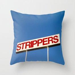 Strippers Throw Pillow