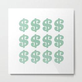 Mint Dollars Metal Print