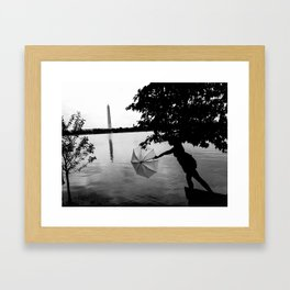 Washington Silhouette  Framed Art Print