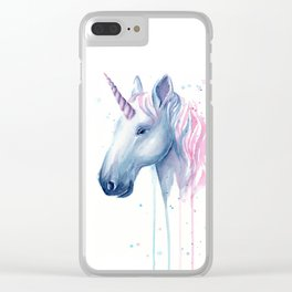 Cotton Candy Unicorn Clear iPhone Case