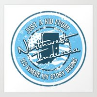 Kid From Northwest Indiana Art Print