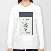 skyrim Long Sleeve T-shirts featuring Skyrim Monopoly Location by HuckBlade
