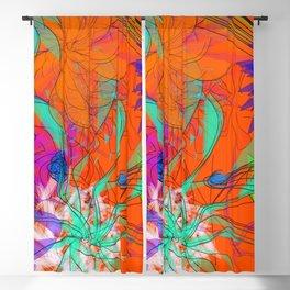 Orange watercolor Blackout Curtain