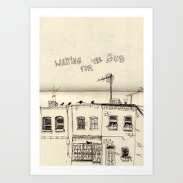 Waiting  for the Bus - serie II Art Print