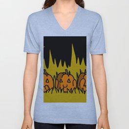 Halloween Pumpkins Speak No Evil, Hear No Evil, See No Evil   Veronica Nagorny Unisex V-Neck