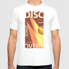 Vintage Space Poster Series II - Discover Space - It's a Blast! MEDIUM Mens Fitted Tee White