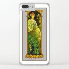 Vintage Art Nouveau - The Majestic Peacock Clear iPhone Case