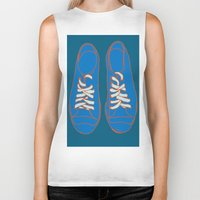 sneakers Biker Tanks featuring Sneakers by Sam Ayres