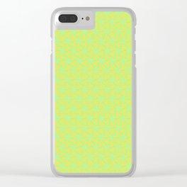 Patterns: Orange Green Flowers Clear iPhone Case