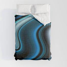"""""""Blue Puzzle"""" Print Duvet Cover"""