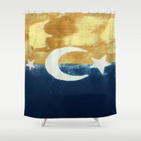 moonrise Shower Curtains featuring Moonrise by Abby Snyder
