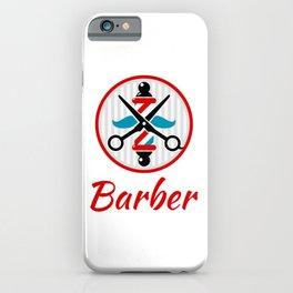 Barber Logo iPhone Case