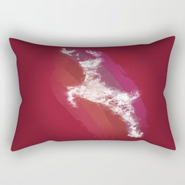 In Search Of Peace - (Maroon) Rectangular Pillow