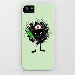 Evil Bug Nurse With Syringe iPhone Case