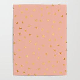 Millennial Pink Gold Pastel Pattern Poster