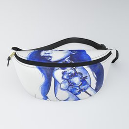 Flower tattoos: Blue orhid Fanny Pack