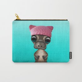 Cute Baby Platypus Wearing Pussy Hat Carry-All Pouch