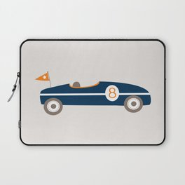 Soapbox Derby Blue Car Laptop Sleeve