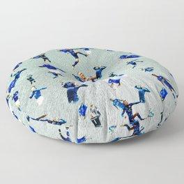 football pattern Floor Pillow