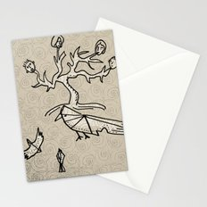 birds and tree monster Stationery Cards