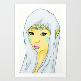 Elvish Warrior Art Print