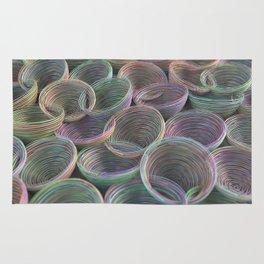 Colorful spiraled coils Rug