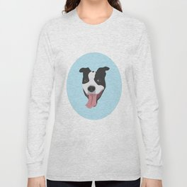 Smiley Pitbull Long Sleeve T-shirt