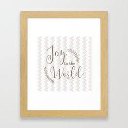 joy to the world - chevrons Framed Art Print