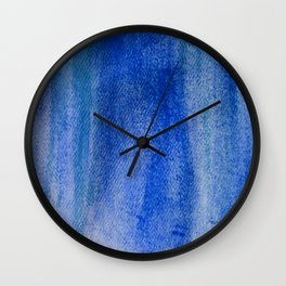 Blue Paint abstract Wall Clock