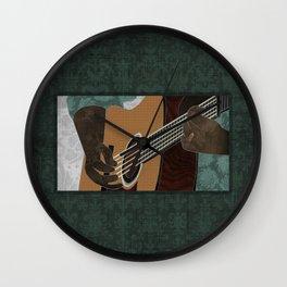 Acoustic Electric Guitar Wall Clock