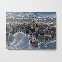 Waterfront Metal Print