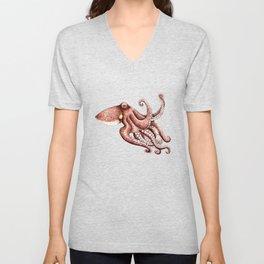 Octopus (Octopus vulgaris) Unisex V-Neck