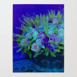 Bouquet-purple Poster