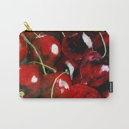 Cherries - Still Life In Acrylics Original Fine Art Carry-All Pouch